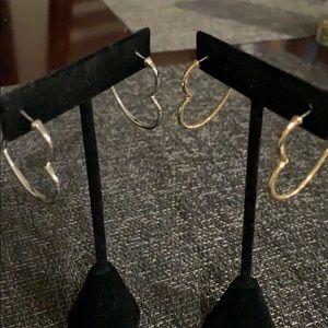 Heart post earrings